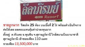 รีสอร์ท 13500000 สุราษฎร์ธานี พุนพิน หัวเตย
