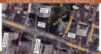 ที่ดิน 4200000000 กรุงเทพมหานคร เขตราชเทวี ถนนเพชรบุรี
