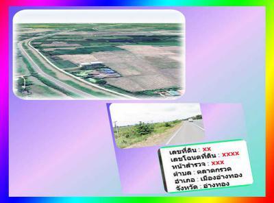 ที่ดิน 2850000 อ่างทอง เมืองอ่างทอง ตลาดกรวด