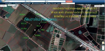ที่ดิน 113362500 สุพรรณบุรี บางปลาม้า ตะค่า