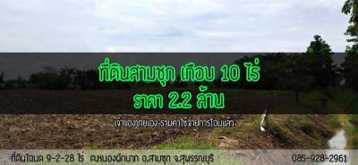 ที่ดิน 2200000 สุพรรณบุรี สามชุก หนองผักนาก